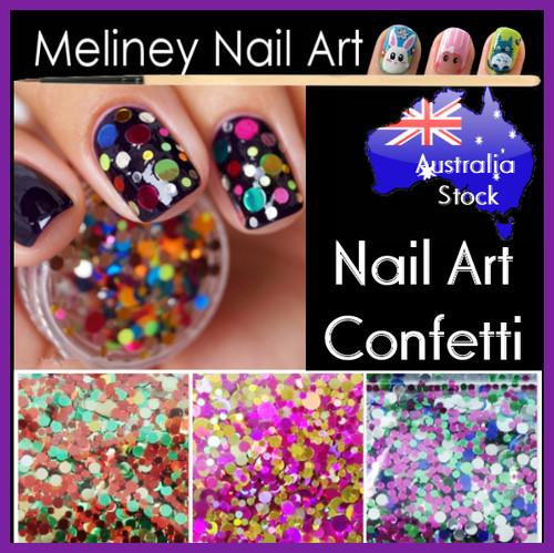 b series nail art confetti