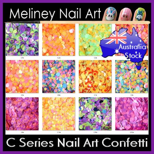 C series nail art confetti