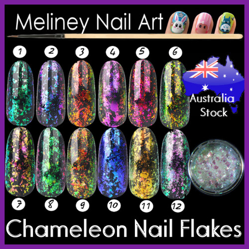 chameleon nail flakes