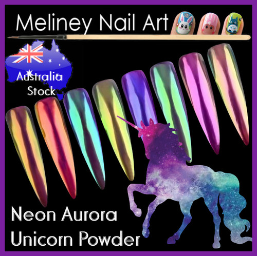 Neon Aurora Unicorn Powder