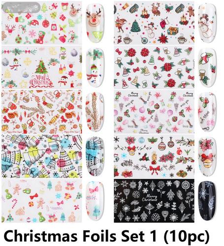 Christmas nail foils