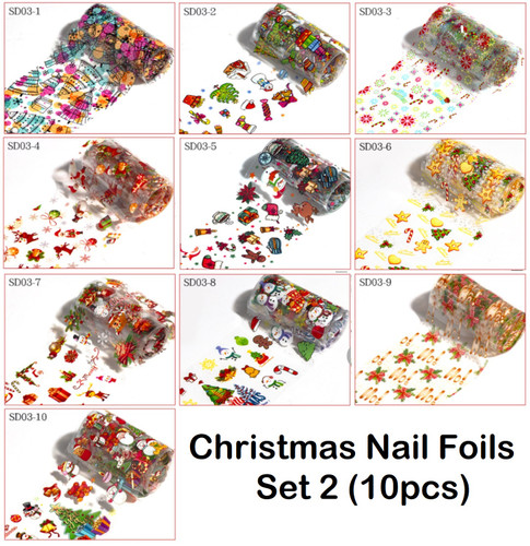 Christmas Nail Art Foils
