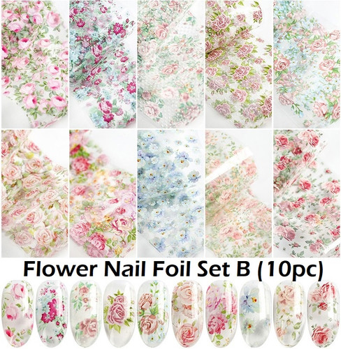 Flower Nail Art Transfer Foils