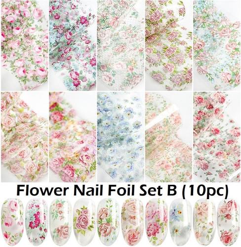 Flower Nail Art Transfer Foils