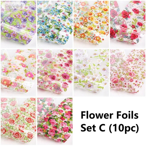 Flower Nail Art Foils