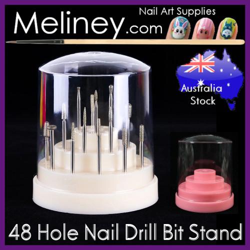 48 hole nail drill bit stand