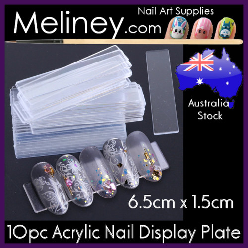 acrylic nail display plate
