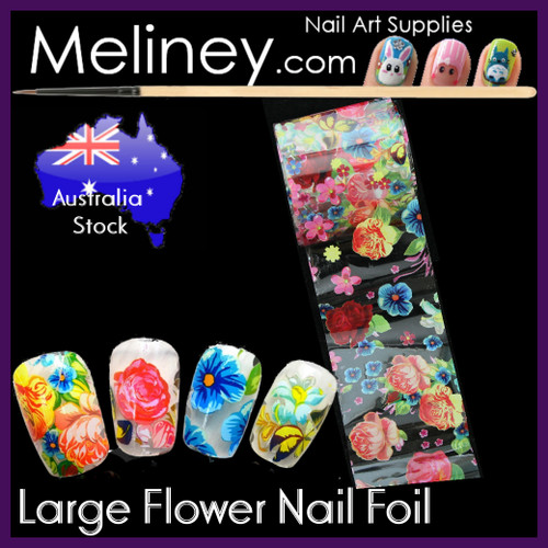 Large Flower Nail Art transfer Foil