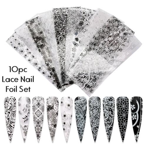 lace nail foil set