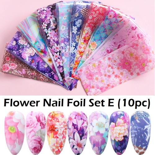flower nail foil set