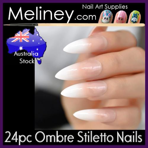 24pc Ombre Stiletto Full Nails