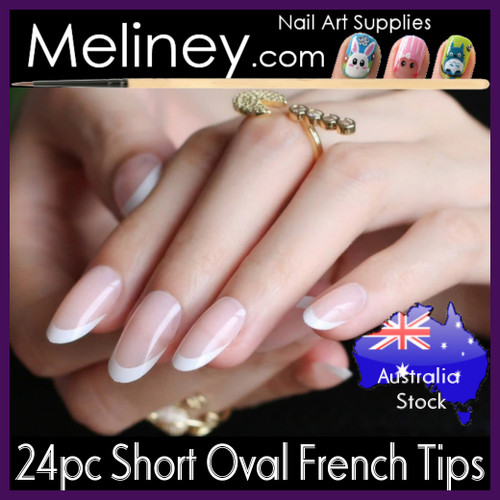 24pc Short Oval French Tips