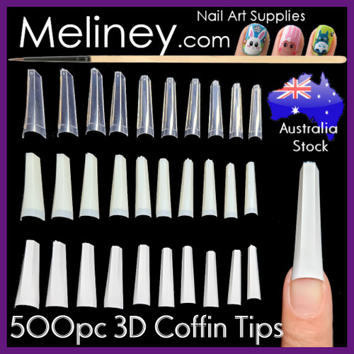 3d Coffin Nail Tips