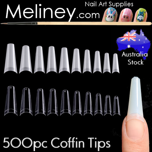 500pc Coffin Tips