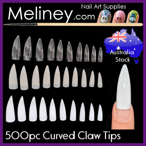 curved claw nail tips