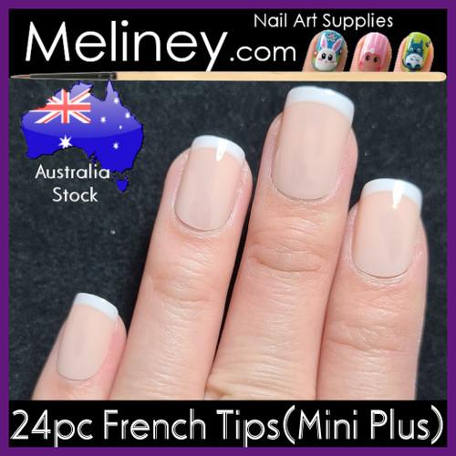 24pc Full Nail French Tips mini Plus