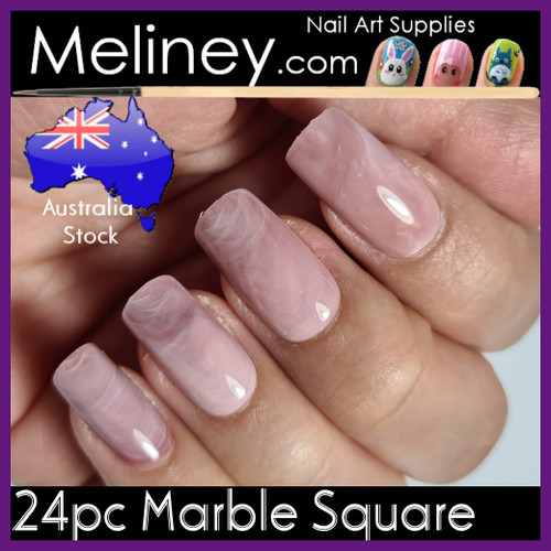 24pc marble square nails