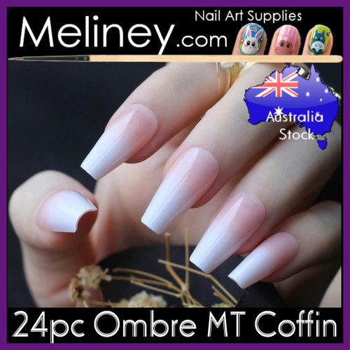 24pc Ombre MT Coffin Full Cover Nails