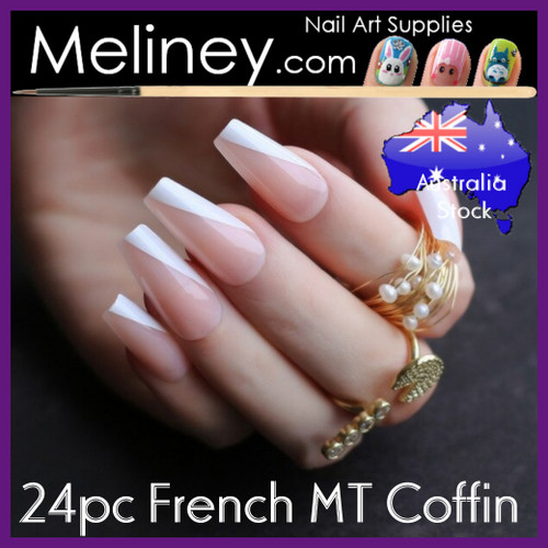 24pc French MT Coffin Full Cover Nails