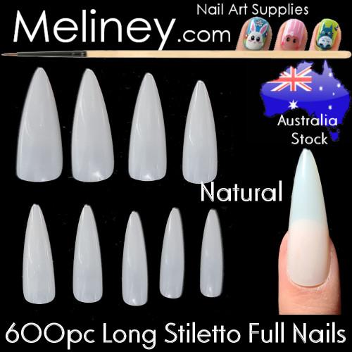 600pc Long Stiletto Full Cover Nails