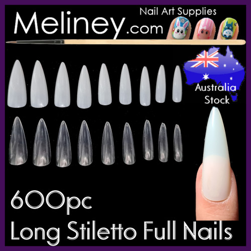 Long Stiletto Full cover nails