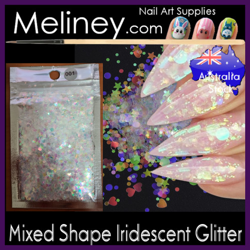 Mixed Shape iridescent glitter
