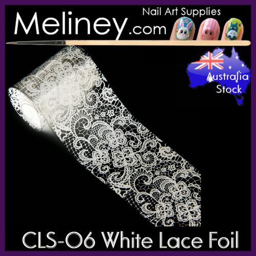 White Lace Nail Foil - CLS-06