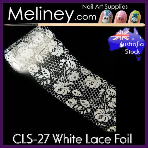 White Lace Nail Foil - CLS-27