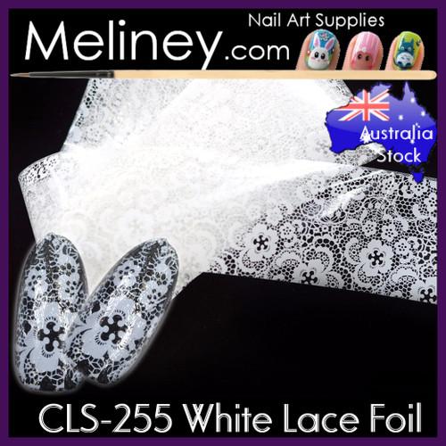White Lace Nail Foil - CLS-255