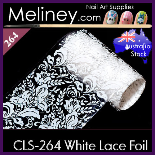 White Lace Nail Foil - CLS-264