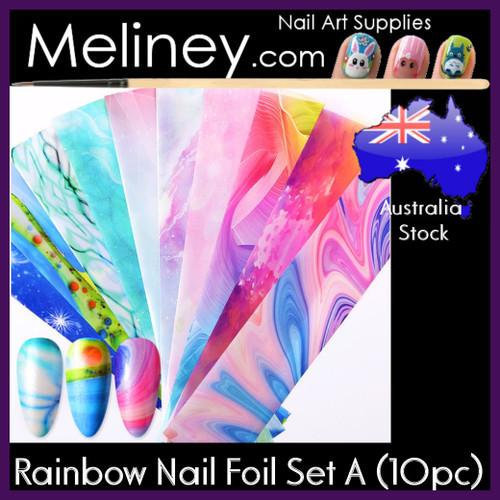 Rainbow Nail Foil Set A
