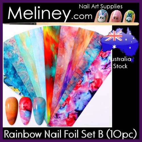 Rainbow Nail Foil Set B