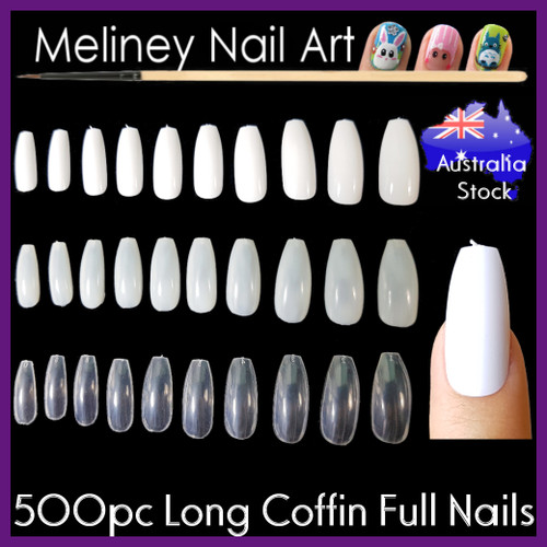 500 long coffin full cover nails