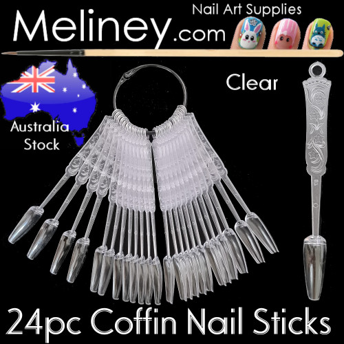 24pc Coffin Display Sticks Tips
