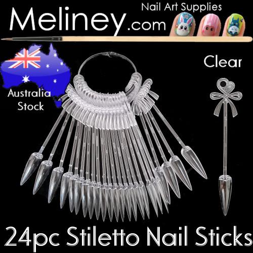 24pc Stiletto Display Sticks Tips