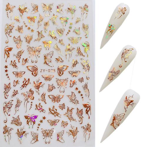 Gold Butterfly Sticker