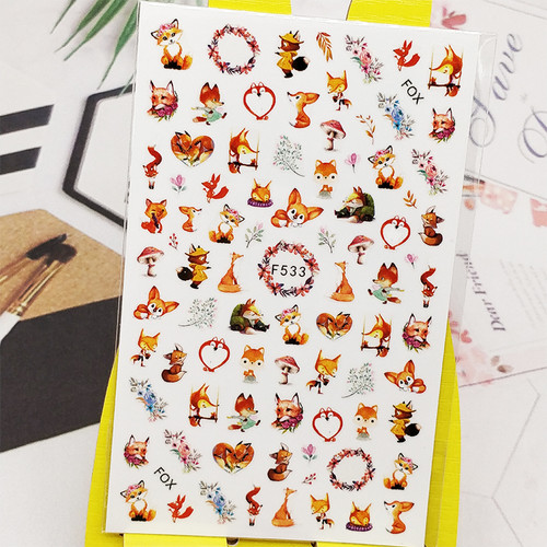 Foxes Animal Sticker