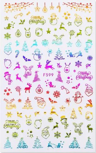 Rainbow Christmas STicker F599