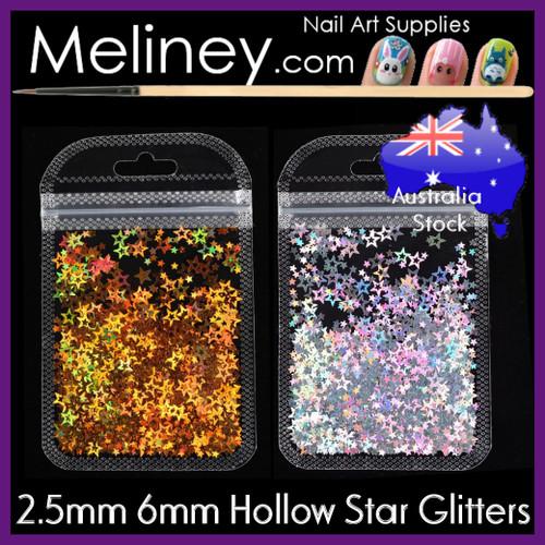 Hollow Star Glitter