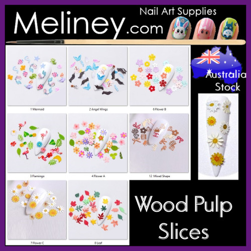Wood Pulp Nail Decal Slices