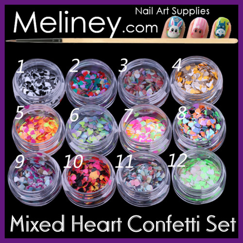 Mixed Heart Confetti Set