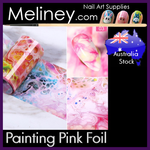 Painting Pink Nail Foil