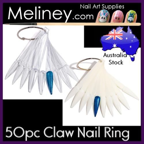 50pc claw nail display ring