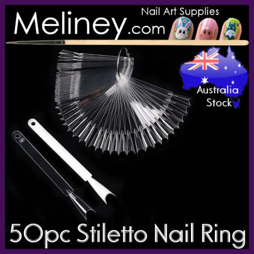 50pc Stiletto Nail display rings
