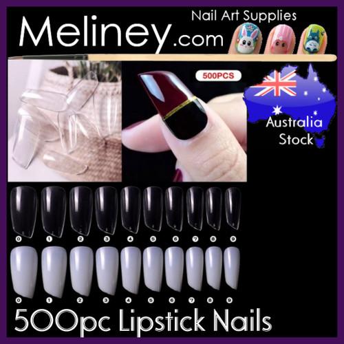 500pc Lipstick Full Cover Nails