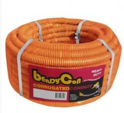 40Mm Orange Hd Corrugated Conduit X 10M Roll
