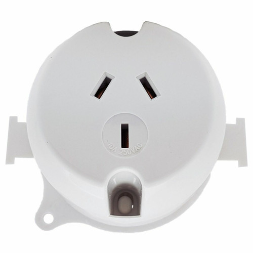 Plug Base Single 10A - Dexton (Each)