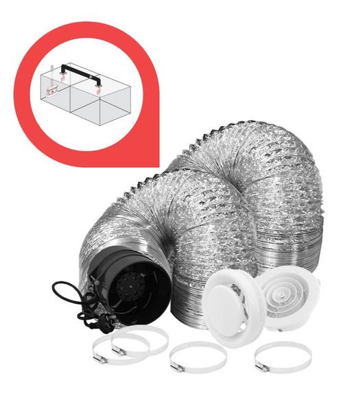 Deflecto 1-1 Room Air Transfer Kit