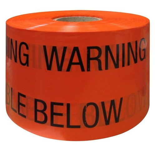 Orange Underground Warning Tape