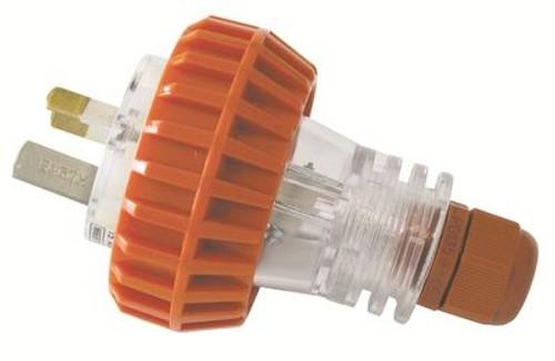10A 3Pin Plug W/P Orange